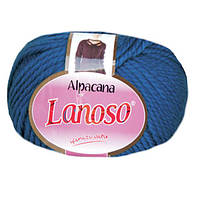 Зимняя пряжа Lanoso Alpacana 3028 25% альпака синяя