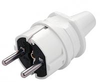 Вилка электрическая Viko с заземлением 250В 16А IP20 пластик белый.