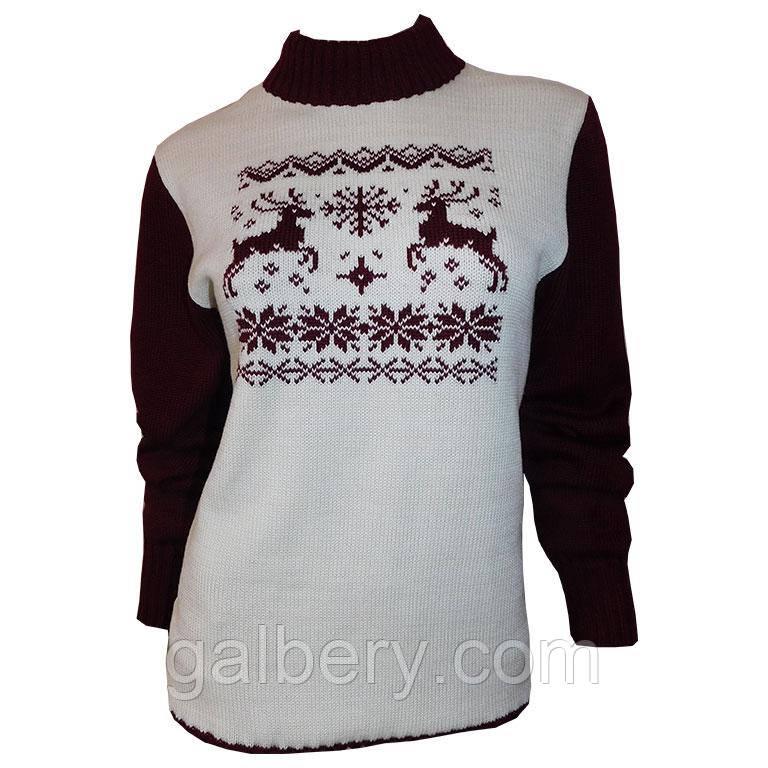 В'язаний светр з орнаментом.