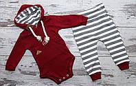 Комплект для мальчика: боди, штанишки 0-3 месяцев