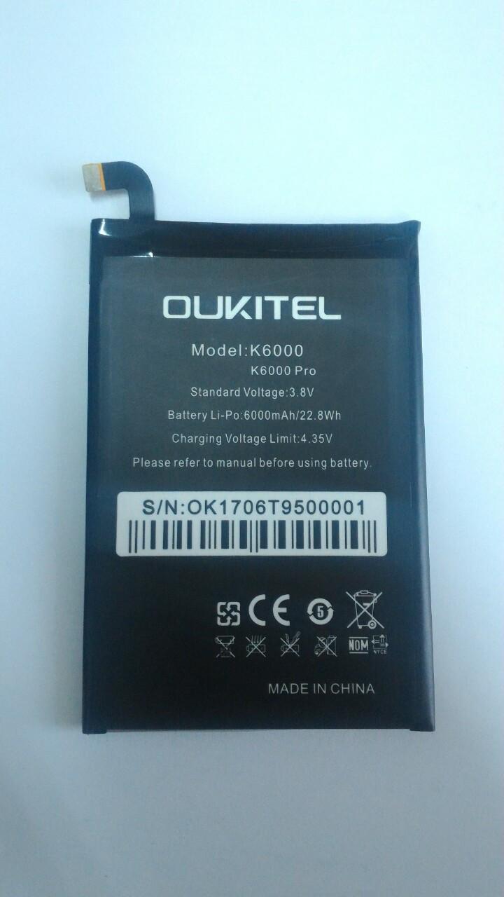 Аккумулятор батарея Oukitel K6000 Pro k6000