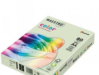 Бумага  A4 Maestro color GN27 светло зеленая