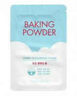 Пенка для глубокого очищения тройного действия ETUDE HOUSE Baking Powder Pore Cleansing Foam New, Пробник