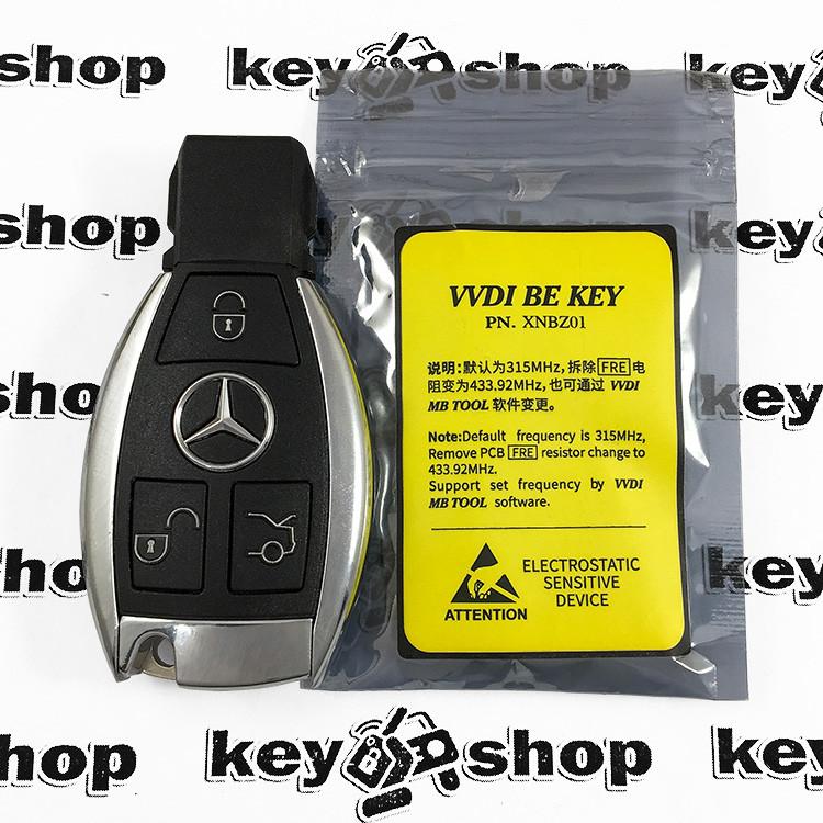 Ключ для Mercedes (Мерседес), (VVDI be key), 3 кнопки, 433/315 MHz