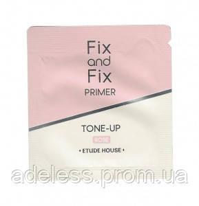 Розовый праймер от темных кругов под глазами ETUDE HOUSE Fix And Fix Tone Up Primer SPF33 PA++. Пробник.