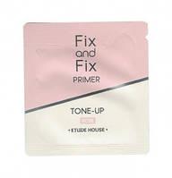 Розовый праймер от темных кругов под глазами ETUDE HOUSE Fix And Fix Tone Up Primer SPF33 PA++. Пробник., фото 1
