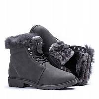 Женские ботинки зимние из искусственной кожи