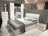 Кровать Неаполь 1,6х2м с подъемным механизмом, белый глянец