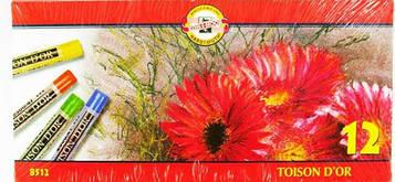Мелки-пастель 8512 T.D'OR 12шт Koh-I-Noor