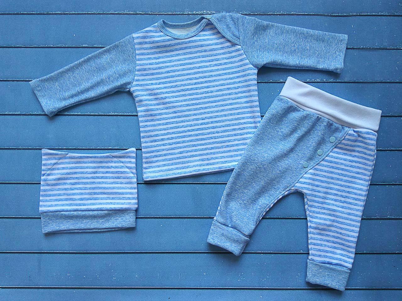 Комплект для мальчика: кофта с длинным рукавом, штанишки, шапочка/20 (62см), 22 (68см), 24 (74см), 26 (80см)