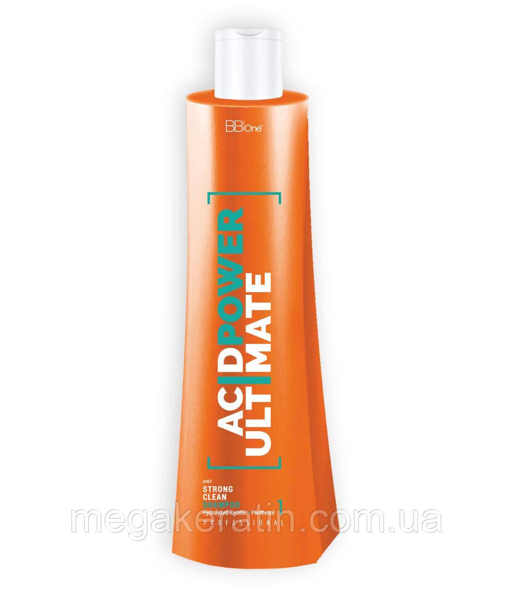 BB One. Нанопластика Shampoo Acid Power Ultimate (шаг 1) - 1000 мл.