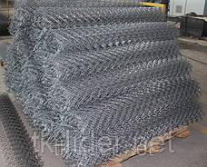 Сетка рабица, сетка рабица в рулонах,  15x15  10000x1500   д= 1.5 мм оц, фото 3