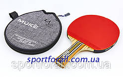 Ракетка для настольного тенниса 1 штука в чехле MUK 100B 1* (древесина, резина) Код 100B