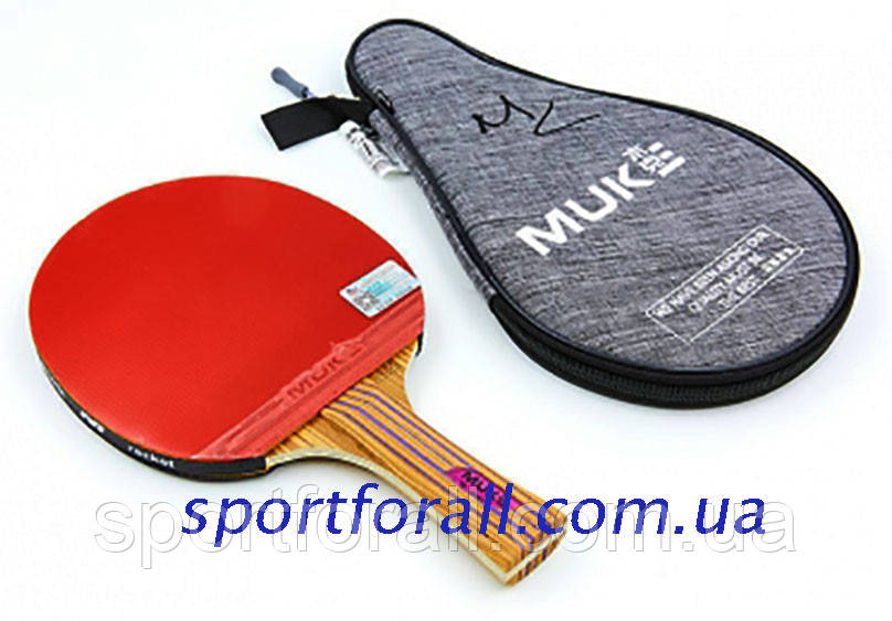 Ракетка для настільного тенісу 1 штука в чохлі MUK 200B 2* (деревина, гума) Код 200B