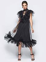 Женское вечернее платье из фатина