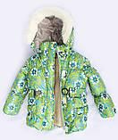 Теплая  детская зимняя куртка и брюки для девочки, фото 2