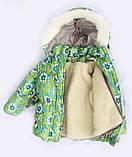Теплая  детская зимняя куртка и брюки для девочки, фото 3