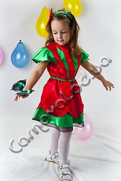 Карнавальный костюм  для девочки  Мак