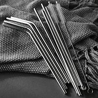 Набор металлических трубочек соломинок для напитков Primo MT4R/4G-2 20см/6mm