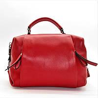 Удивительная женская сумочка красного цвета (кожа) ВВВ-200082, фото 1