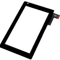 """Сенсорний екран для планшету Tablet PC 7"""",  GoClever Tab R74, 187x112 mm, 51 pin, чорний"""