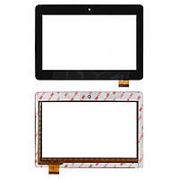 """Сенсорний екран для планшету Tablet PC 7"""", Cube U9GT4, 7"""", 125x178 mm, 34 pin, чорний"""
