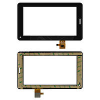 """Сенсорний екран для планшету Tablet PC 7"""", Freelander PD200, 7"""", 111x186 mm, 30 pin, чорний"""