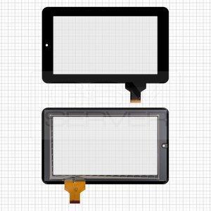 """Сенсорний екран для планшету Tablet PC 7"""", Onda V701s, V702, V711, 190x120 mm, 30 pin, чорний"""