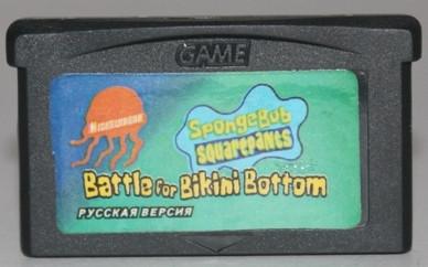 """Картридж на GBA """"Battle for Bikini Bottom"""""""