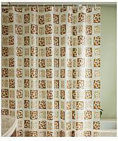 """Штора в ванную с кольцами """"Дэйси"""" точный размер 180x200 см, код 20333"""