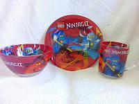 Детский набор посуды из стекла  Лего Ниндзяго