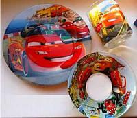 Детский набор посуды из стекла  Тачки  со скидкой