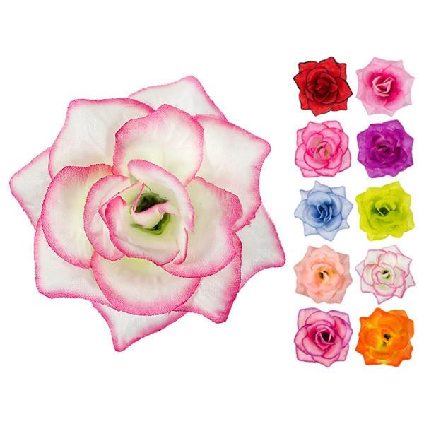 Головка Троянда середня шовк, 10см ( 50 шт в уп)