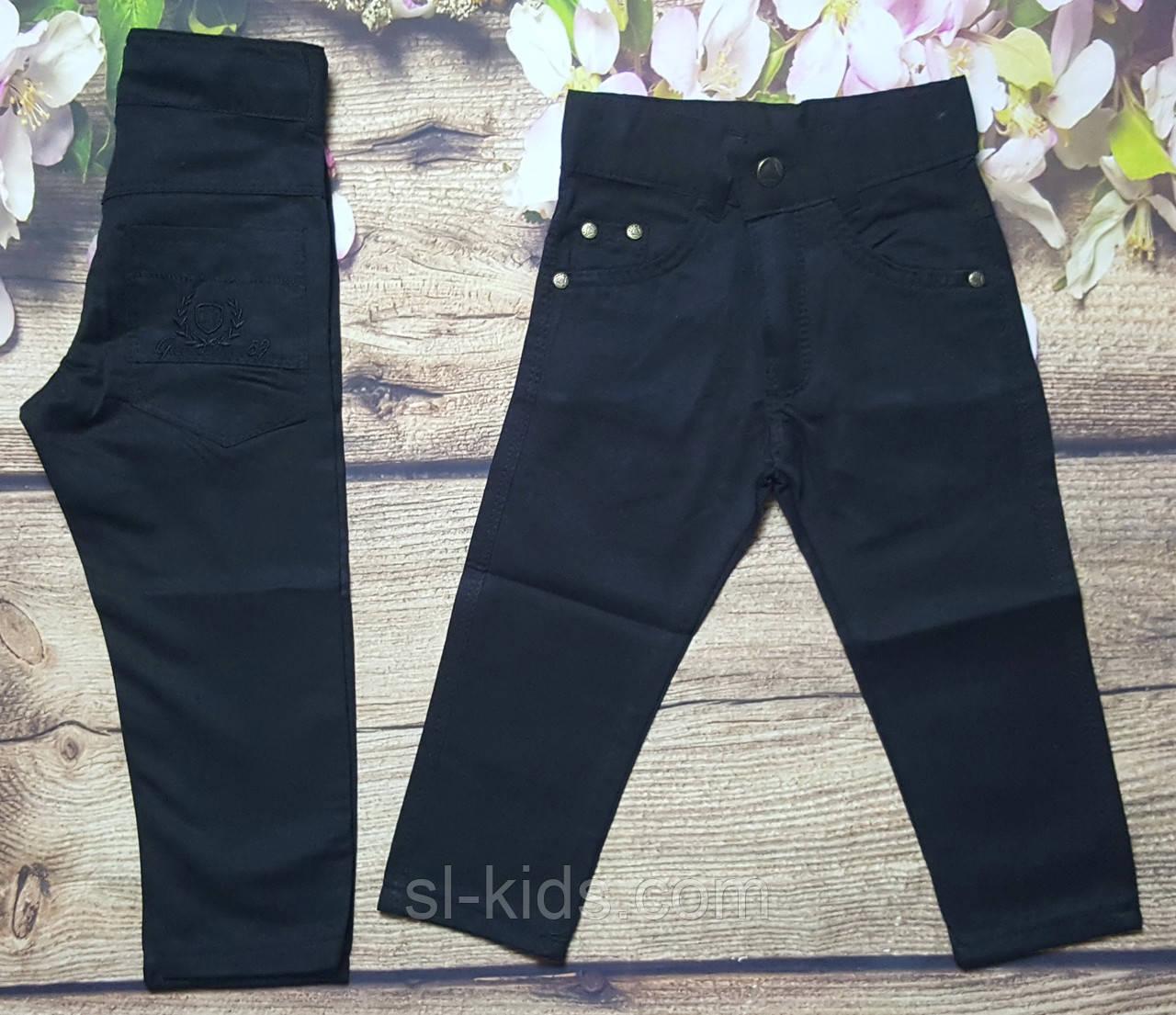 Яркие котоновые штаны для мальчика 3-7 лет (черные) опт пр.Турция