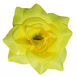 Головка Троянда середня шовк, 10см ( 50 шт в уп), фото 2