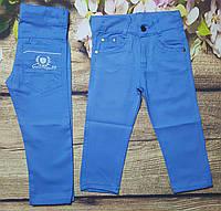 Яркие котоновые штаны для мальчика 3-7 лет (голубые) опт пр.Турция