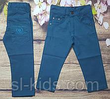 Яркие котоновые штаны для мальчика 3-7 лет (петроль) опт пр.Турция