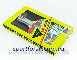 Ракетка для настільного тенісу 1 штука в кольоровій коробці BUT Addoy-D BT-4873 (WAKABA-15280-FL) Replika Код BT