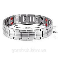 Магнитный браслет от давления мужской сталь нержавеющая высокого качества