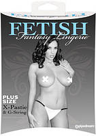 Пестисы Fetish Fantasy - X-Pastie and G-String White XL (DT44216)