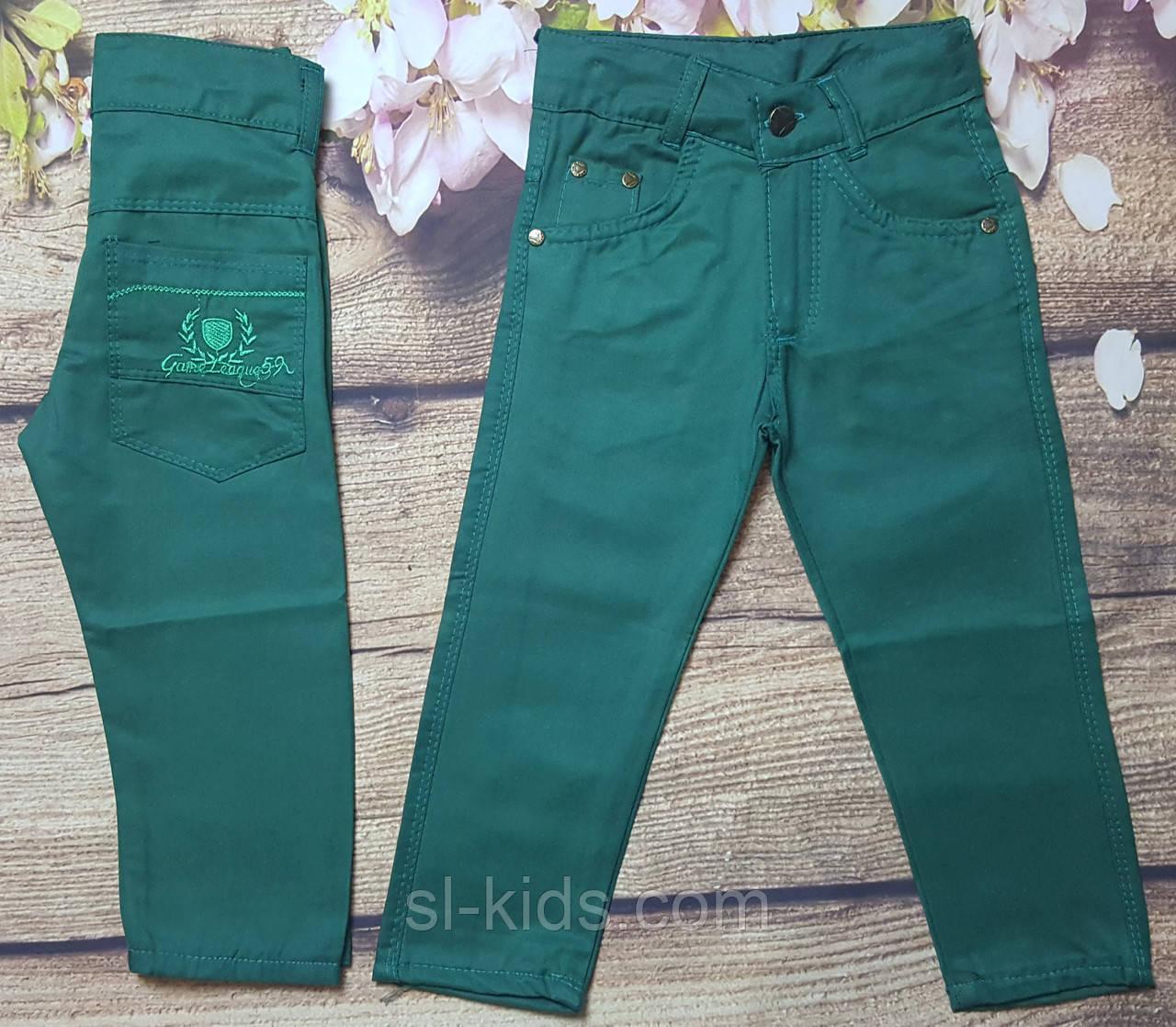 Яркие котоновые штаны для мальчика 3-7 лет (зеленые) опт пр.Турция
