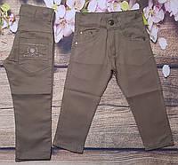 Яркие котоновые штаны для мальчика 8-12 лет (коричневые) опт пр.Турция