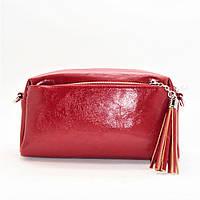 Прямоугольная женская сумочка красного цвета (экокожа) VСX-218236, фото 1
