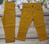 Яркие котоновые штаны для мальчика 8-12 лет (горчичные) опт пр.Турция