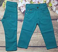 Яркие котоновые штаны для мальчика 8-12 лет (мятные) опт пр.Турция