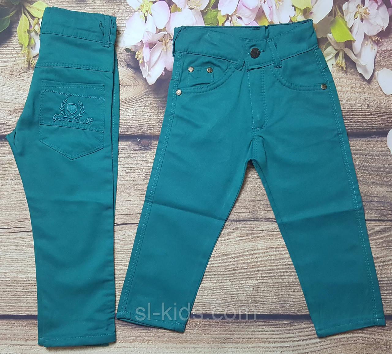 Яскраві котонові штани для хлопчика 8-12 років (м'ятні) опт пр. Туреччина