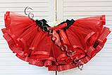 Нарядная красная юбка пачка   для девочки, фото 4
