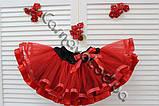 Червона багатошарова фатиновая спідниця для дівчинки, фото 3