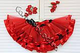 Червона багатошарова фатиновая спідниця для дівчинки, фото 4