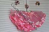 Розовая фатиновая пышная юбка  для девочки, фото 3